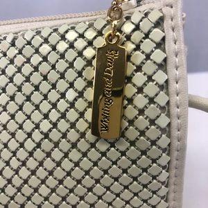 Whiting & Davis Bags - Whiting and Davis cream mesh evening shoulder bag